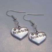 Bride To Be Earrings - Drop Charm Style